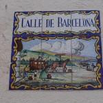 Calle de Barcelona sign